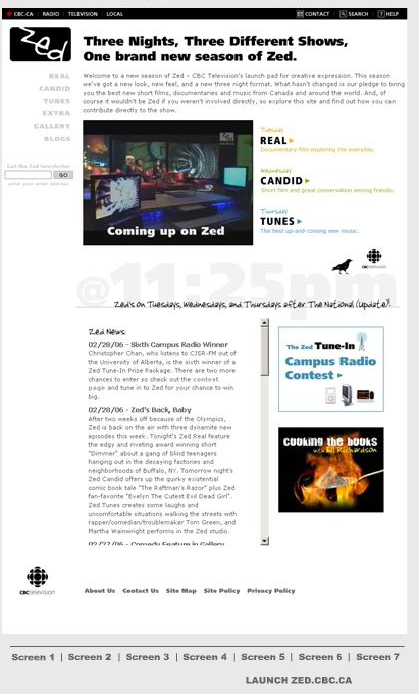 Zed home page